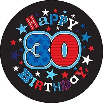 CREATIVE Insignia 5 cm Edad Feliz Cumpleaños 30 Hombre ...