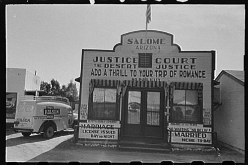 Photo: Marriage mill,Salome,Arizona,1942,Holsum - Mill Arizona