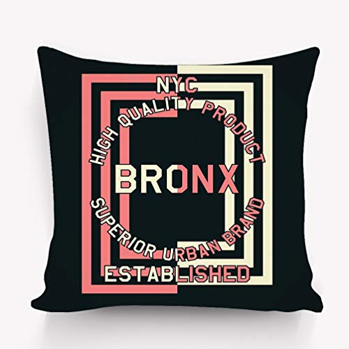 wuhandeshanbao Pillow case Graphic NYC Quality Product Bronx Print 18 18 -