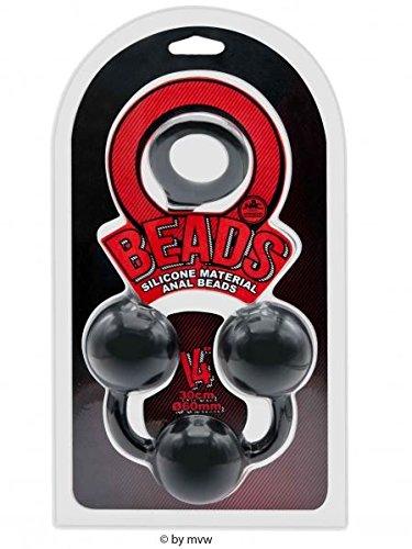 Beads Silicone Anal Beads Kugeln ca. 36 cm Black