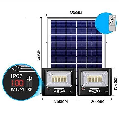 Foco Proyector Solar Exteriores Con Pantalla LCD, Luces De ...