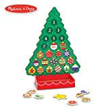 Melissa & Doug Countdown to Christmas Wooden Advent Calendar (Seasonal & Religious, Magnetic Tree, 25 Magnets)