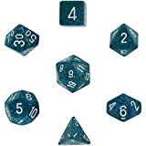 Chessex Dice: Polyhedral 7-Die Speckled Dice Set - Sea