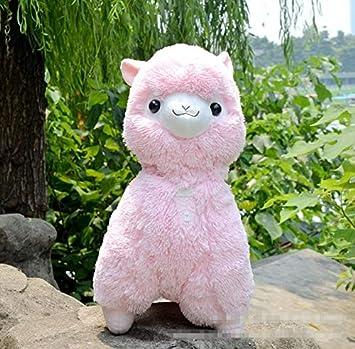 Boufery Peluche Alpaca Peluche Animali Bambola per Bambini 35 cm Rosso Giocattolo per Dormire Peluche Giapponese Alpaca Giocattolo