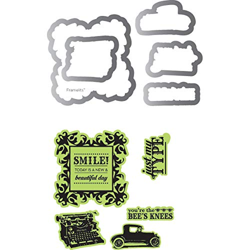 Echo Park Framelits Die and Clear Acrylic Stamp Set Times and Seasons (6 Pack)