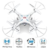 Syma-X5SW-FPV-HD-Camera-Drone-with-Real-Time-Transmission-125-x-125-x-42-inchesWhite