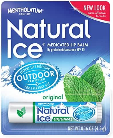 Natural Ice Original - SPF 15 lip balm in Pack of 12 (4.5g each), Original Flavor