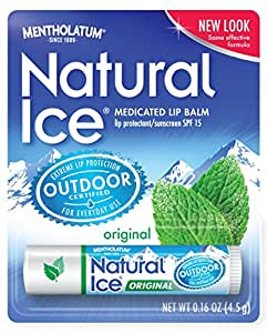 Natural Ice Original - SPF 15 lip balm in Pack of 12 (4.5g each), Original Flavor