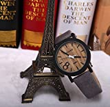 New Simulation Wooden Relojes Quartz Men Watches Casual Wooden Color Leather Strap Watch Wood Male Wristwatch Relogio Masculino