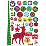 Easy Instant Decoration Wall Sticker Decal - Forest Christmas Stag