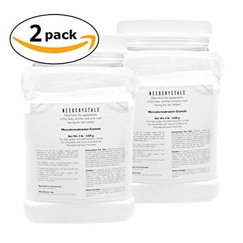 Grit Aluminum Oxide Beads - NeedCrystals Microdermabrasion Crystals (5 lb, 120 grit, 2 pack)