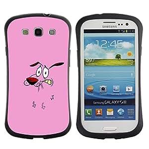 Suave TPU GEL Carcasa Funda Silicona Blando Estuche Caso de protección (para) Samsung Galaxy S3 I9300 / CECELL Phone case / / Dog Pink Face Cartoon Character Animation /