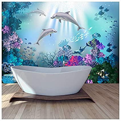 Amazon.com: azutura Dolphin Wall Mural Under The Sea Photo Wallpaper ...