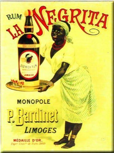 FRANCIA VINTAGE IMAN 6x8cm PUB RETRO ALCOHOL RON NEGRITA DE ...