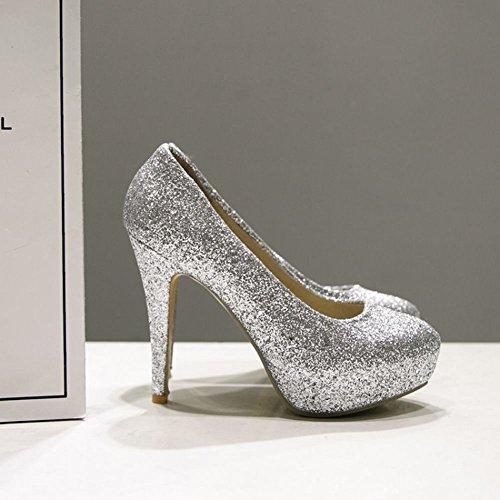 Con Shoes Lucidalabbra A Mee E Brillante Punta Scollo Da Donna WIgn6vq6