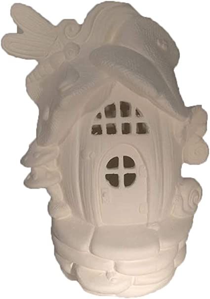 Ready to Paint Conifer Cottage 8 x 4 Fairy House Ceramic Bisque