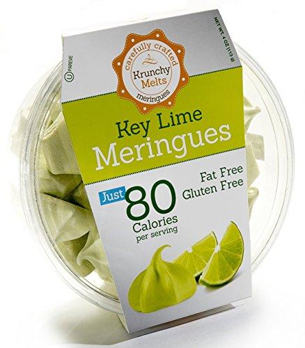 Original Meringue Cookies (Key Lime) • 80 calories per serving, Gluten Free, Fat Free, Nut Free, Low Calorie Snack, Kosher, Parve • by Krunchy Melts ()
