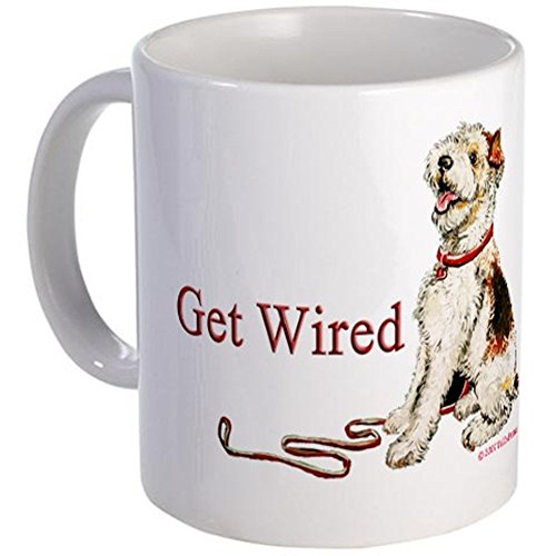 11 ounce Mug - Wire Fox Terrier Dog Walk Mug - S White