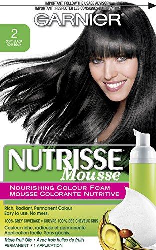 Garnier  Nutrisse Nourishing Color Foam, Soft Black