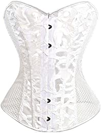 Corset Satin Overbust Lace up Busiter Shapewear Outfit