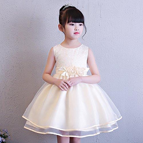 XIU*RONG Vestidos Para Niñas Vestidos De Niños Champagne color