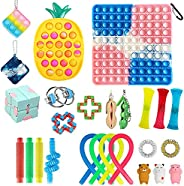 Fidget Packs Anti-Anxiety Tools, Cheap Pop Bubble Sensory Fidget Pack Stress Relief Toys with Marble Mesh Pop