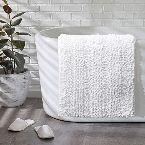 Tvscess Bathroom Rug ,Bath mat for Bathroom , Luxury Chenille Shaggy Bath Mat ,Non Slip Bath Rugs for Indoor, Bath Room…