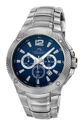 Porsamo Bleu Pierre Stainless Steel Silver Tone & Blue Men's Watch 253APIS