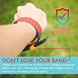 Lingito 11 Pack Magic Band Protectors | Multi-Color Smart Watch Security Bands | Made for Fitbit Charge, Charge HR, Garmin Vivofit, Disney Magic Band 2.0