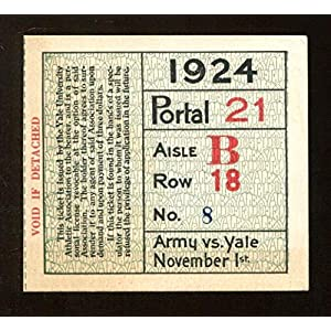1924 Yale v Army Football Game Ticket 11/1 Yale Bowl New Haven 46037