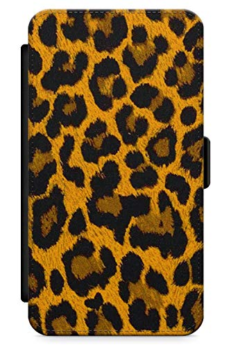 iPhone 5 Case, iPhone 5s, iPhone SE Brown Leopard Print Phone Case by Casechimp | Premium Leather Flip Wallet Card Holder Slots | Animal Print Cheetah Nederdel Wild - Charger Iphone 5s Cheetah