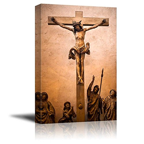 "wall26 - Canvas Prints Wall Art - Jesus Sculpture | Modern Wall Decor/Home Decoration Stretched Gallery Canvas Wrap Giclee Print. Ready to Hang - 12"" x 18"""