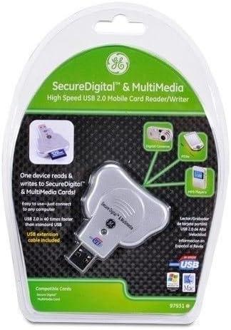 Writer 97931 GE 2.0 USB Secure Digital /& Multimedia Card Reader