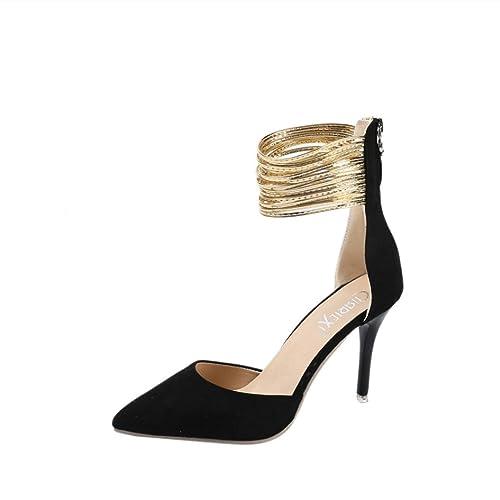 beautyjourney Scarpe Donna Tacco Eleganti estive Plateau Sandali Estivi Donna  con Tacco Zeppa Plateau Eleganti Scarpe 3b16484ca58