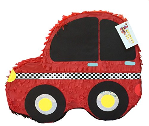 Racing Car Pinata - APINATA4U Red Car Pinata Car Theme Party Favor