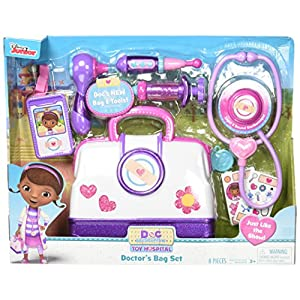 Just Play Doc McStuffins Hospital Doctor's Bag Set - 51TJxwAm sL - Doc Mcstuffins Toy Hospital Doctor's Bag Set