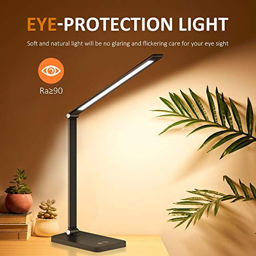 LED Desk Lamp Eye Protection Office Reading Folding Touch Control USB Charging