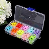 120Pcs Colorful Knitting Stitch Markers Crochet Locking Tool Craft Ring Holder by HittecH