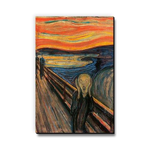Seven Rays The Scream by Edvard Munch Fridge Multipurpose Magnet for Home/Kitchen/Office