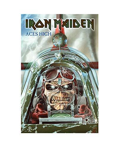Iron Maiden Poster Textile Aces High Band Logo Official 70Cm X 106Cm