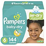 Diapers Size 6, 144 Count - Pampers Baby Dry