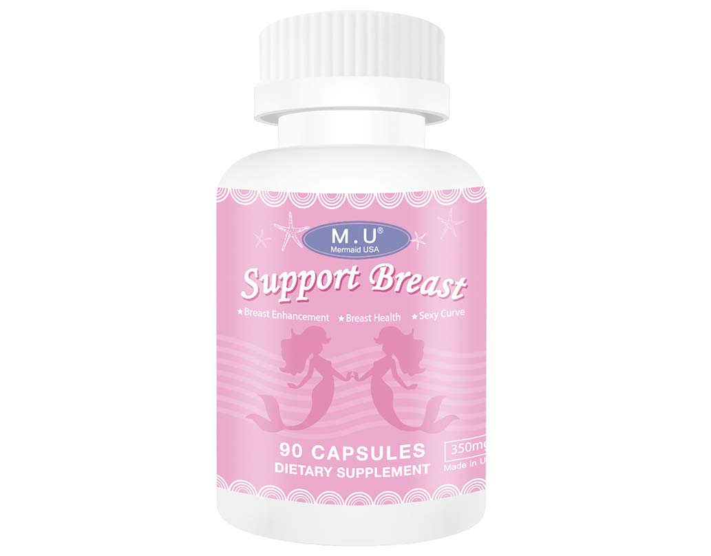 M.U Natural Breast Enhancement Pills Support Breasts Lift Firm Health Supplement Natural and Green Herb to Fight Lumps of PRO Formula M.U Mermaid USA by M.U