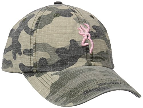 Browning Woodland Camo Cap, Pink, Semi-Fitted
