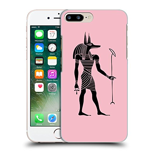 GoGoMobile Coque de Protection TPU Silicone Case pour // Q07640630 Anubis egypt 1 Rose // Apple iPhone 7 PLUS