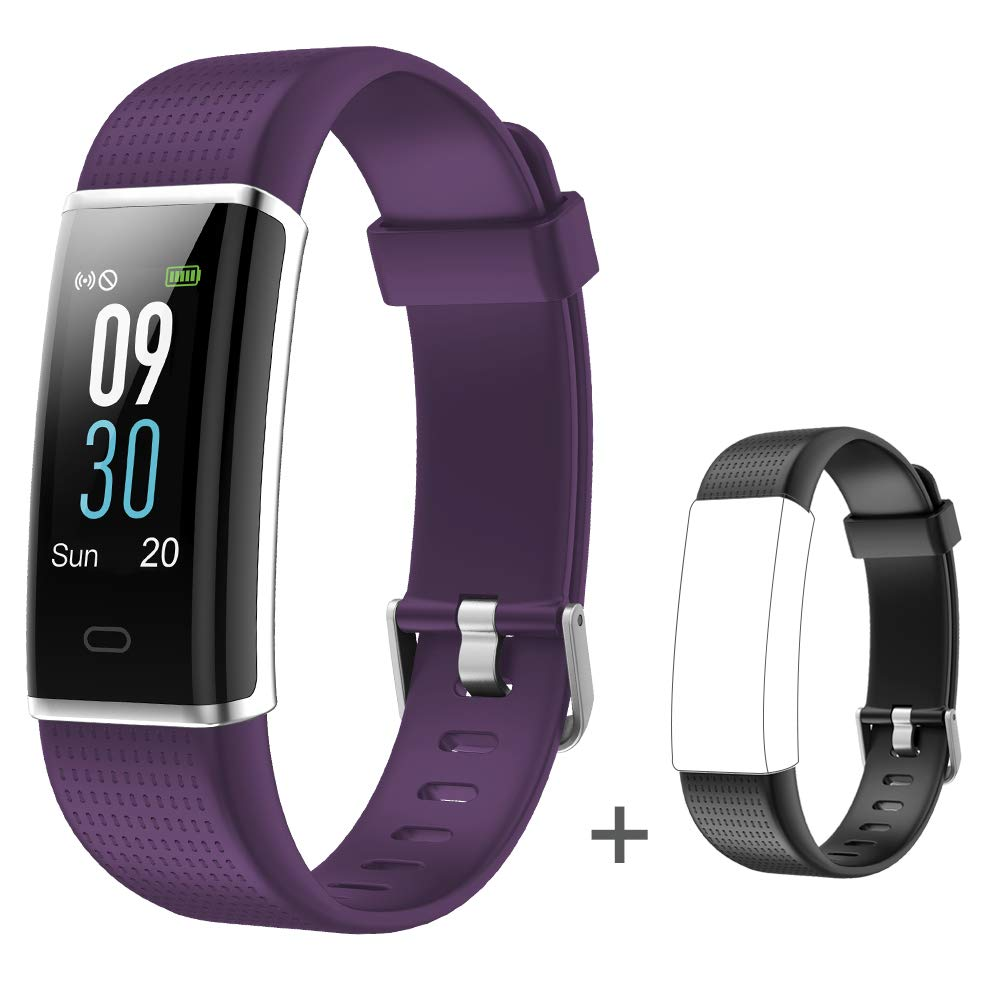 Willful Fitness Tracker, Heart Rate Monitor Fitness Watch Activity Tracker(14 Modes) Pedometer with Step Counter Sleep Monitor Call SMS SNS Notice for Women Men Kids (Purple+Black)