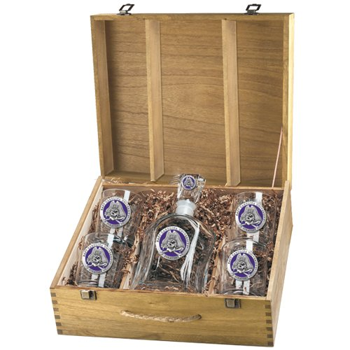 East Carolina Pirates Capitol Decanter Box Set by Heritage Pewter