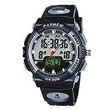 Jewtme Kids boy Watches 50m Digital-Analog Water-Proof Sport Swimming Digital Watch for Boys Girls-Black