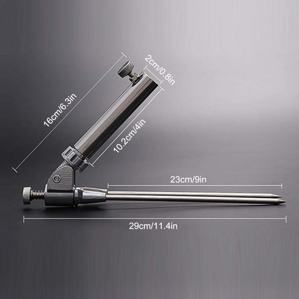Adjustable Metal Stainless Steel Fishing Rod Pole Ground Holder Stand Support