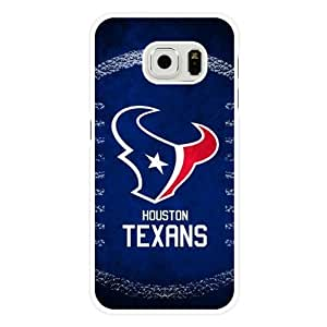 Samsung Galaxy S6 Edge Case, Customized NFL Houston Texans Logo White Hard Shell Samsung Galaxy S6 Edge Case, Houston Texans Logo Galaxy S6 Edge Case(Only Fit for Galaxy S6 Edge) Kimberly Kurzendoerfer