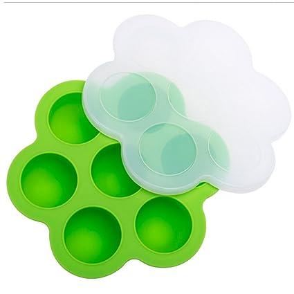 Moldes de mordeduras de huevo de silicona, Bandeja para congelar alimentos YooGer con clip en